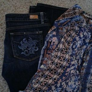 NWOT Paige Laurel canyon cropped flare